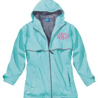 Charles River Rain Jacket with Monogram