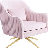 Paloma Pink Velvet Accent Chair