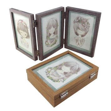 Desktop Decor Wooden Picture Frame Wall Photo Frame Desktop Decorations Vintage Style Photo Frames Family Picture Frames