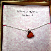 Funny Will You Be My Bridesmaid Card With Necklace (Free Shipping To USA)