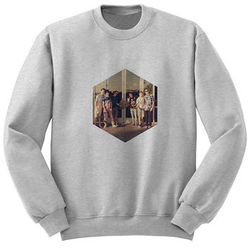 o2l logo sweater Gray Sweatshirt Crewneck Men or Women for Unisex Size with variant colour