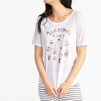 Relaxed Curved-Hem Tee for Women |old-navy