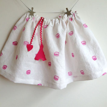 Girls Skirt - The French Macaroon Skirt - Sizes 2T to 8Y