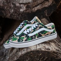 Best Online Sale BAPE x Vans Old Skool Custom Dark Camo Green Camouflage Low Sneakers