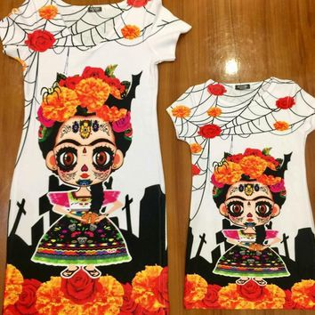 Day of the Dead Frida Dress Bodycon