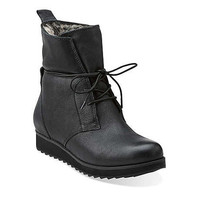 Minx Judy in Black Leather - Womens Boots from Clarks