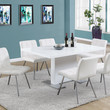 """High Glossy White 35""""X 60"""" Dining Table"""