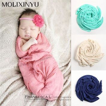 MOLIXINYU 2018 New Soft Newborn Baby Photography Props Sleeping Baby Swaddle Baby Blanket Crochet Outfits For Baby Infant Wrap