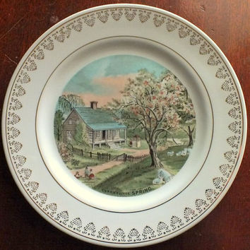 Currier and Ives SPRING Decorative Collectible Plate