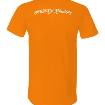 Official NCAA University of Tennessee Volunteers, Knoxville Vols UT UTK Women's Unisex V-Neck T-Shirt - Est 1794 35tn-1-b