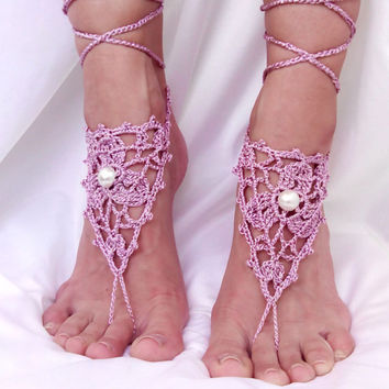Barefoot Sandals Pearl Ashes of Roses Footless Clothes Anklet Toe Steampunk Foot Jewelry Boho Dreamcatcher Sexy Beach