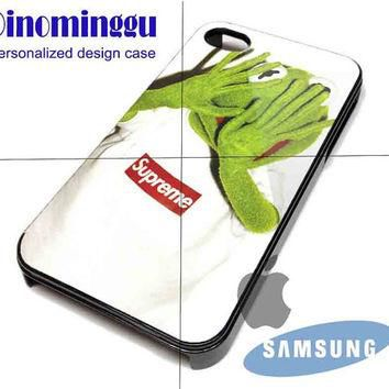 Kermit Supreme for iPhone 4/4S/5/5S/5C Case, Samsung Galaxy S3/S4 Case, iPod Touch 4/5