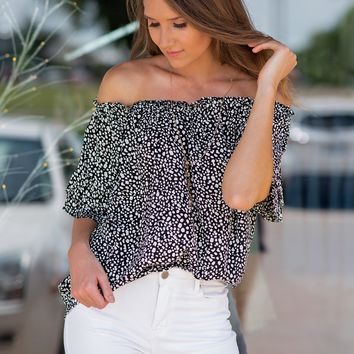 Nothing But Chic Off The Shoulder Top : Black