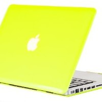 "Kuzy - Neon YELLOW Crystal 13-inch Ultra Slim Hard Case Light Weight Cover See Thru for MacBook Pro 13.3"" (Model: A1278 with or without Thunderbolt) Aluminum Unibody - Neon Hot Yellow"