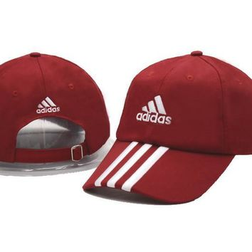 Red & White Adidas Printed Cotton Baseball Golf Cap