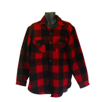 Lumbersexual Red Flannel Shirt Men Flannel Shirt Lumberjack Flannel Plaid Flannel Shirt Men XL Shirt Wool Shirt Eddie Bauer 90s Grunge