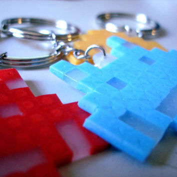 Space Invaders Keychain by BeadxBead on Etsy