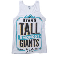Stand Tall Amongst Giants — STAND TALL VEST // WHITE //