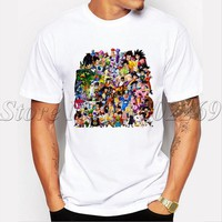 Newest Men fashion t-shirt Dragon Ball Z Insane Amount Of Characters male cool tops Shenron Flight Of The Century funny tee