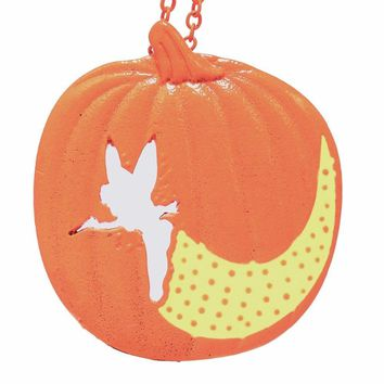 3028 Tinker Bell Pixie Dust Pumpkin Carving Necklace  Halloween Dog Gift for Girl Women Statement Necklaces & Pendants Lead Free