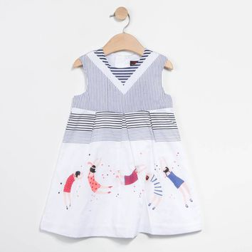 Catimini - Girls City Retro Dress, White