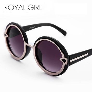 ROYAL GIRL High Quality Women brand sun glasses Rounded Frame sunglasses thick chunky shades female ss057