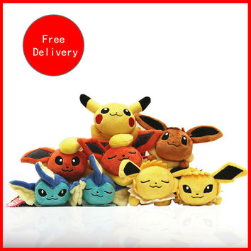 2016 Pokemon plush Pikachu Keychain pendant 18 cm cell phone accessories TV birthday gift girl children's toys