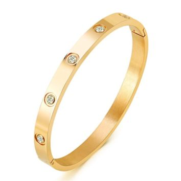 Mother's Day 14k Yellow Gold Iced 2ct Lab-Diamond Cartier Bracelet in 925 Silver