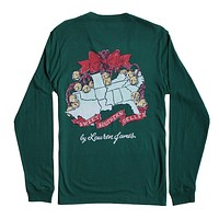 Sweet Southern Belles Long Sleeve Tee in Evergreen by Lauren James - FINAL SALE