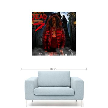 "Chief Keef - Back From The Dead 3 Mixtape Cover 20"" x 20"" Premium Canvas Gallery Wrap Home Wall Art Print"