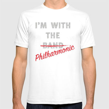 I'm with the philharmonic // I'm with the cooler band T-shirt by Camila Quintana S