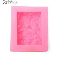KiWarm 3D Silicone Rose Flower Soap Making Mould Pink Mould Soap Mould Candle Mold DIY Handmade Crafts Tool Supplies
