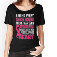 'Behind Every Cancer Fighter There Is An Even Stronger Family' T-Shirt by teebestchoice