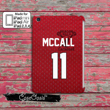 Teen Wolf Inspired Scott Mccall Lacrosse Jersey Beacon Hills Cool Red  Custom iPad Mini, iPad 2/3/4 and iPad Air Case Cover
