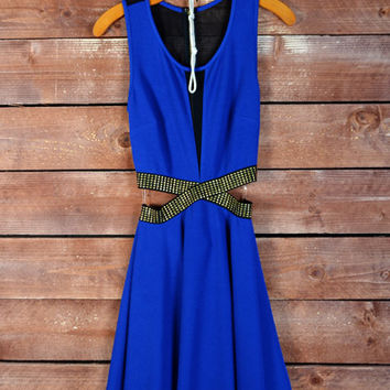 Extra Steam Dress- Royal Blue