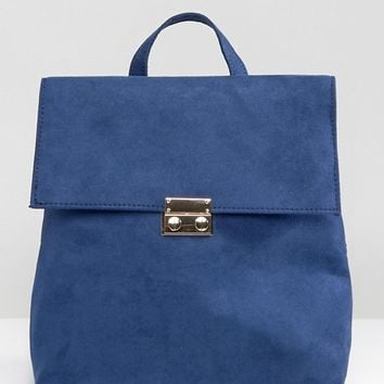 New Look Square Folderover Backpack at asos.com