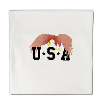 "Bald Eagle USA Micro Fleece 14""x14"" Pillow Sham by TooLoud"
