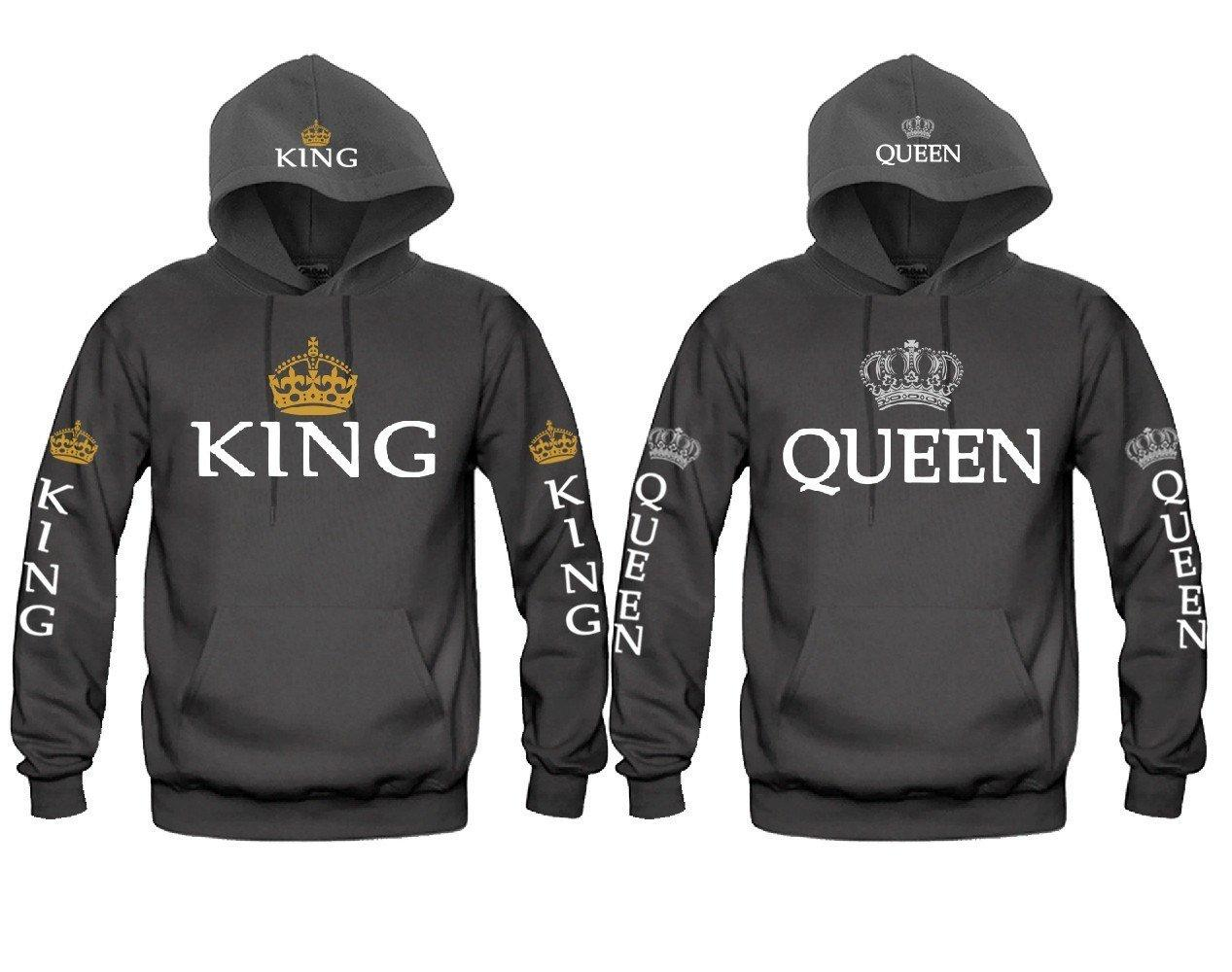 71e731328f King and Queen FULLY LOADED Awesome Gift Unisex Couple Matching Hoodies