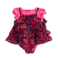 Cheetah Faux Jumper 3 9m  355431284 | One Pieces | Baby Girl Clothes | Clothing | Burlington Coat Factory