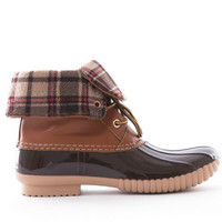 Plaid Duck Boot