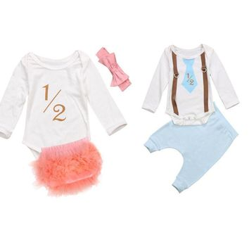 Matching Twins Baby Boy and Girl 1/2 Print Set