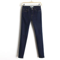 Slim Stretch Jeans Design Denim Skinny Pants [6332296964]