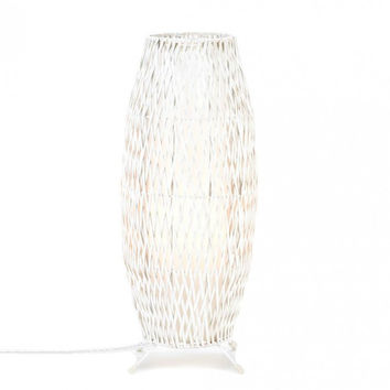 Gallery of Light White Woven Table Lamp