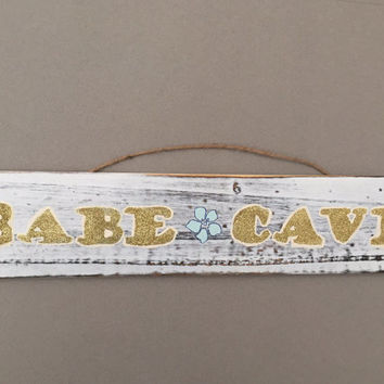 Babe cave wooden sign/ brandy melville boho inspired/ apartment and dorm decor