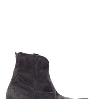 Golden Goose Dark Blue Distressed Leather Young Boots