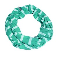 Infinity Breastfeeding Scarf Seaside Stripe Turquoise