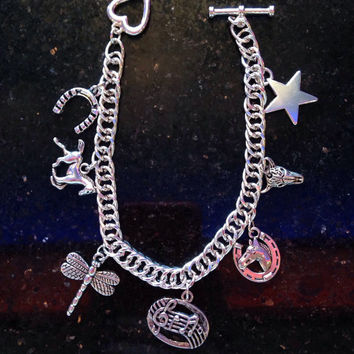 Cowgirl/country charm bracelet