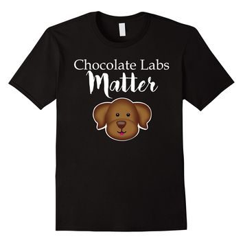 Chocolate Labs Matter Dog Emoji Emoticon Tee Shirt