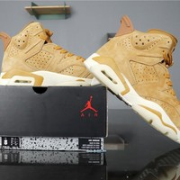 "Air Jordan 6 Retro AJ6 384664-705 ""Golden Harvest"""