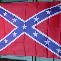 "Confederate Rebel Poly Flag 3x5 foot  (sometimes referred to as ""Battle Flag"") Limited quantity"